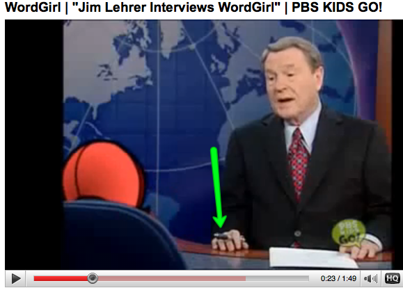 Jim Lehrer with PhD Pen