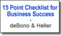 15 point checklist by debono and heller