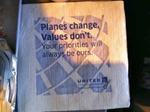 Plane change. Values don't United Airlines